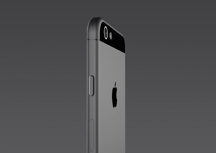 iPhone 6 gold model rendering