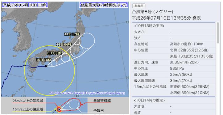 Japan meteorlogical agency