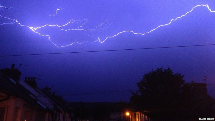 Lightning storms from uk is amazing
