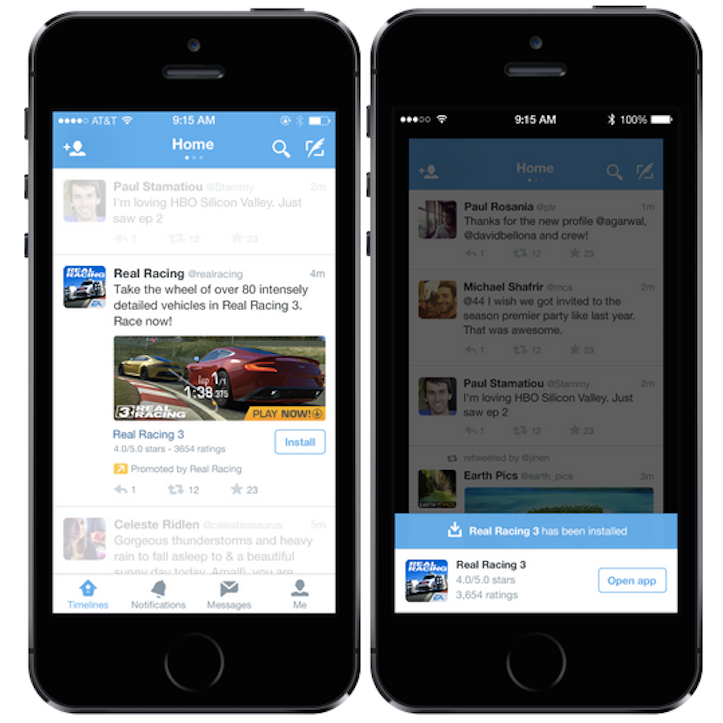 App Download From Twitter Timeline