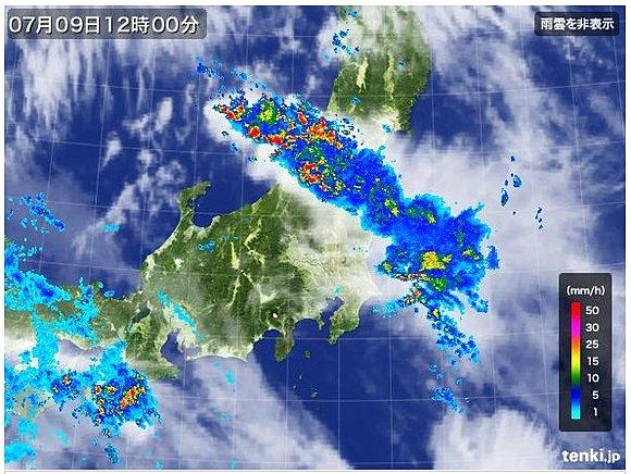 新潟から会津周辺に掛けて大雨