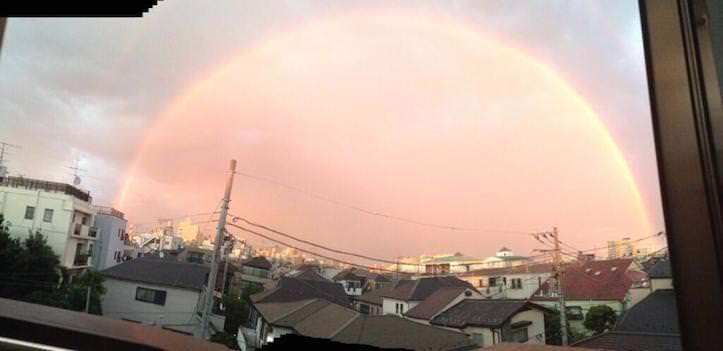 東京の虹が美しいと話題に!