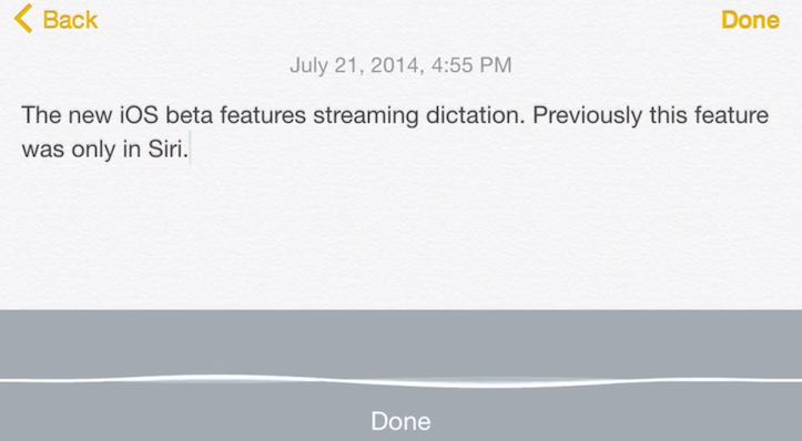 Siri realtime dictation