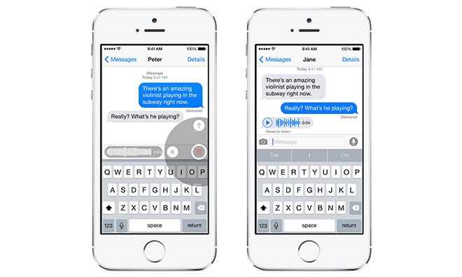 Voice messaging in ios8
