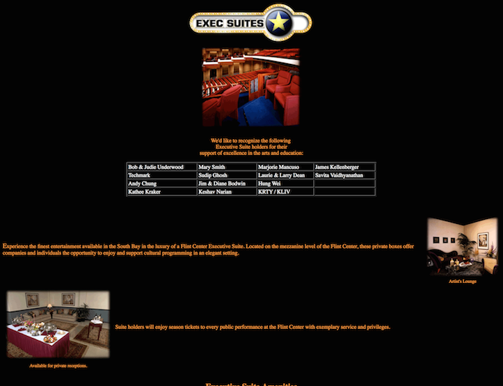 Flint Center Home Page