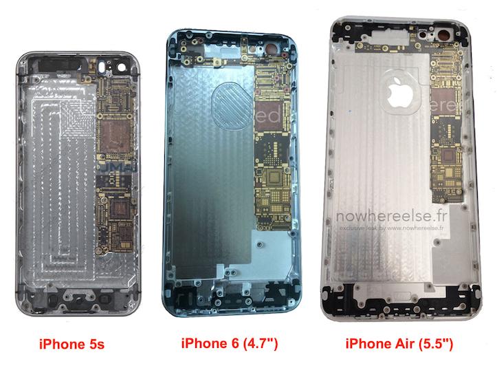 Iphone 5s vs iphone 6 vs iphone air