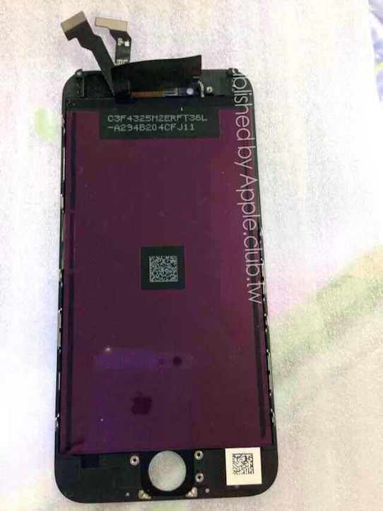iPhone 6のフロントパネル写真