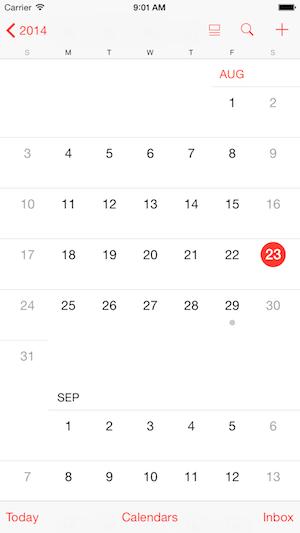 iPhone 6 414x736 calendars