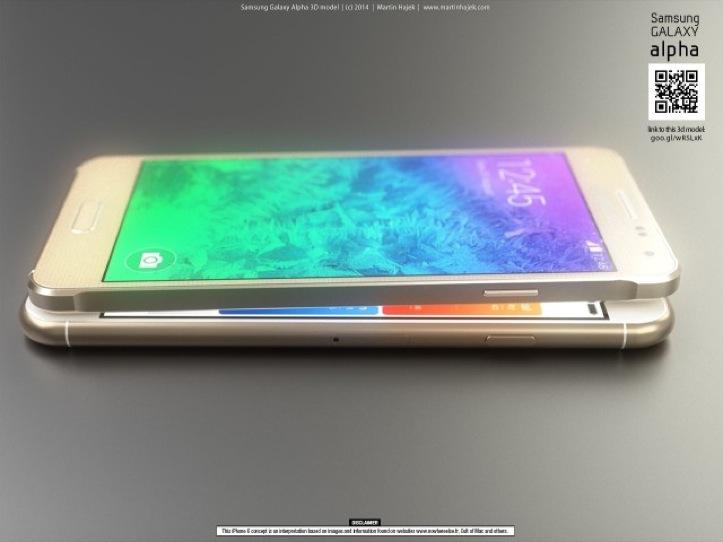 iPhone 6とGalaxy Alphaの比較