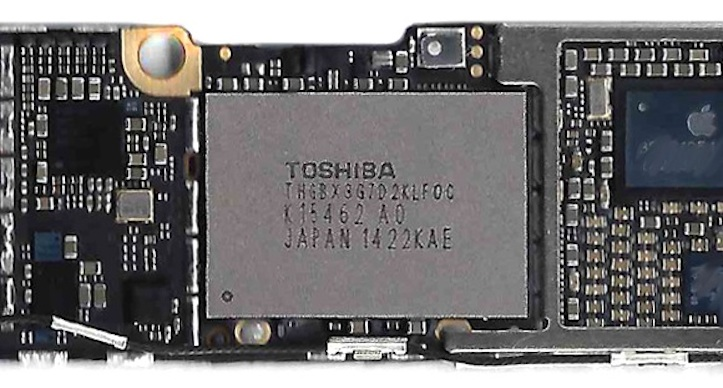 Iphone 6 nand flash