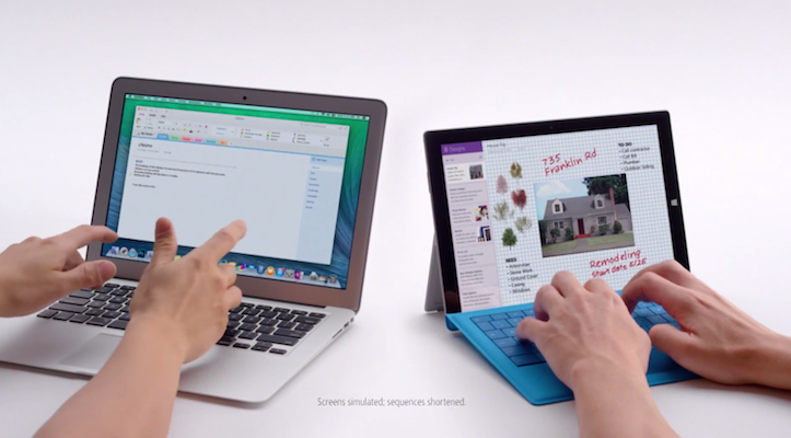 Macbook Air and surface pro 3