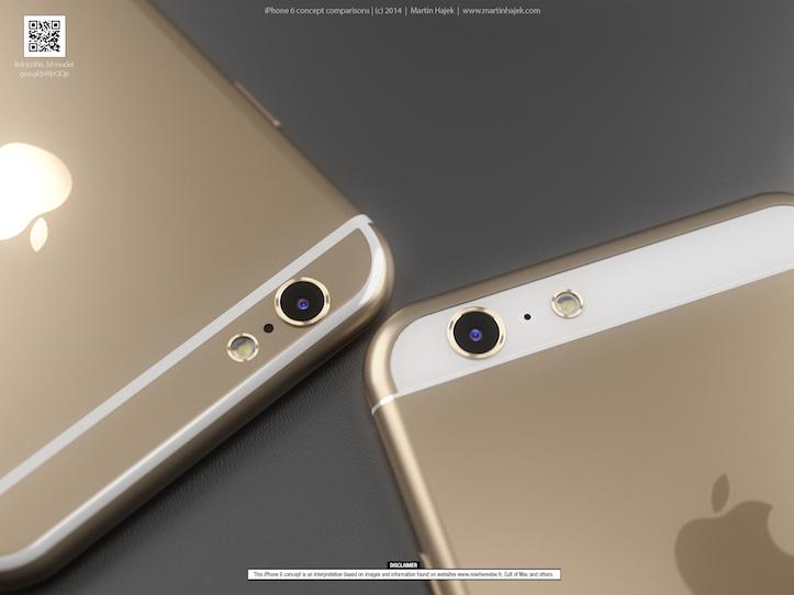 Martin HajekのiPhone 6コンセプトイメージ