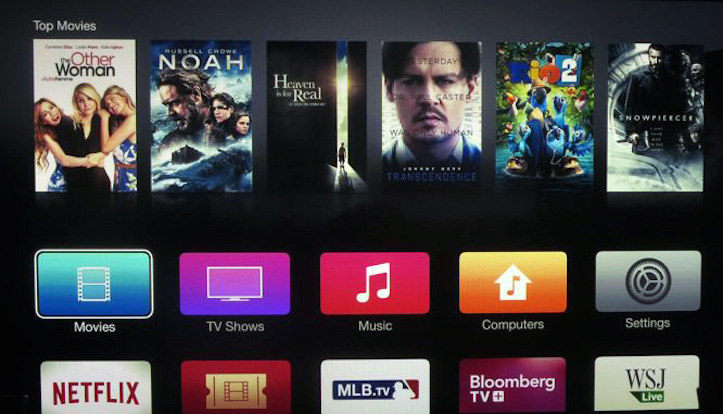 New apple tv interface