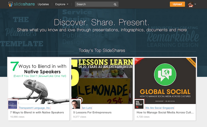 Slide share is completely free