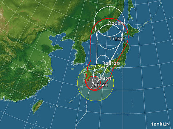 台風11号の進路