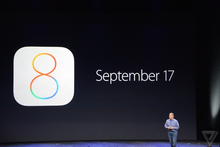 iOS 8の正式リリース日