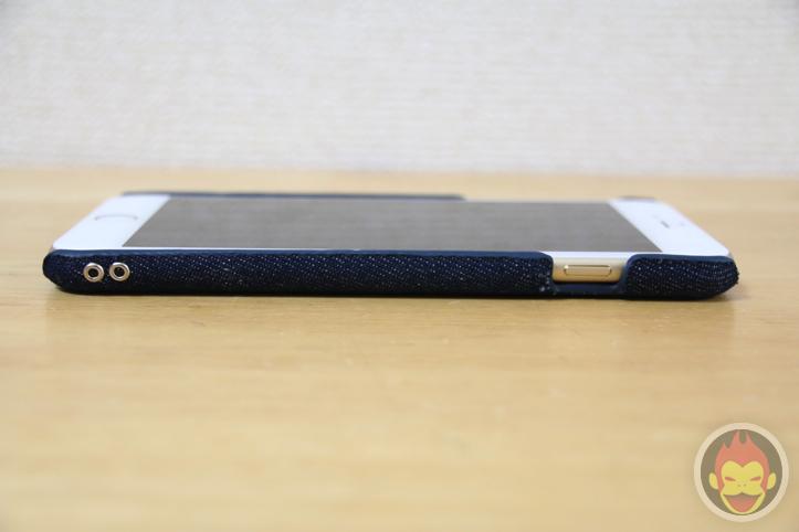 「iPhone 6 Plus」をおサイフケータイ化するケース「Simplismカードポケットファブリックケース」