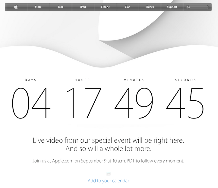 Apple special event countdown