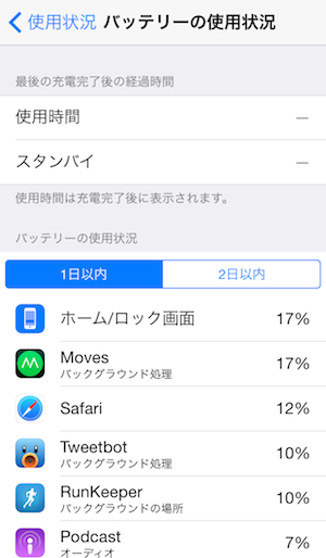 Checking battery drain