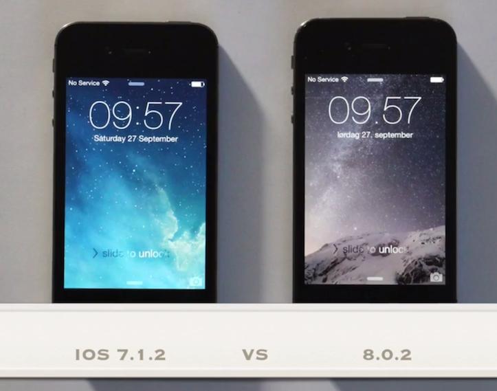 iOS7.1.2 vs 8.0.2
