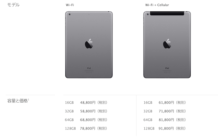 iPad Air models