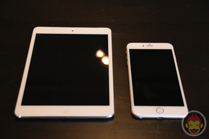 iPhone 6 Plus・iPad mini・iPhone 5sの外観比較