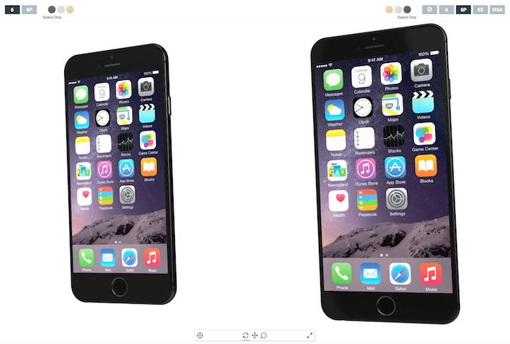 iPhone 6 Plus とiPhone 6 の3Dモデル