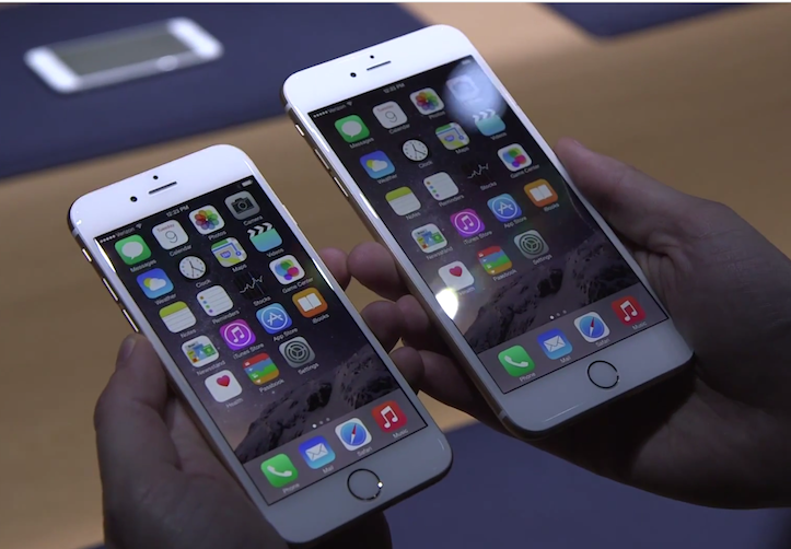 「iPhone 6」「iPhone 6 Plus」
