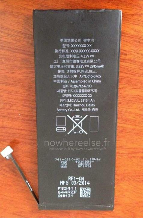 iPhone 6 battery 2915mah