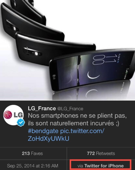 Lg france tweeting from iphone 2