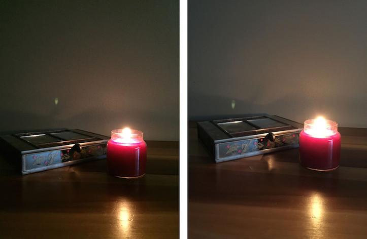 low light photo comparison