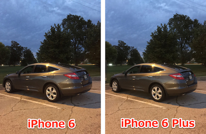 Photos comparison in low light