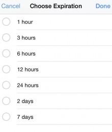 Scheduled posts