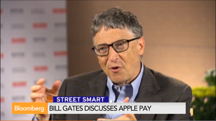 Bill gates on apple pay