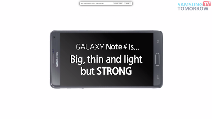 Galaxy note 4 strength test