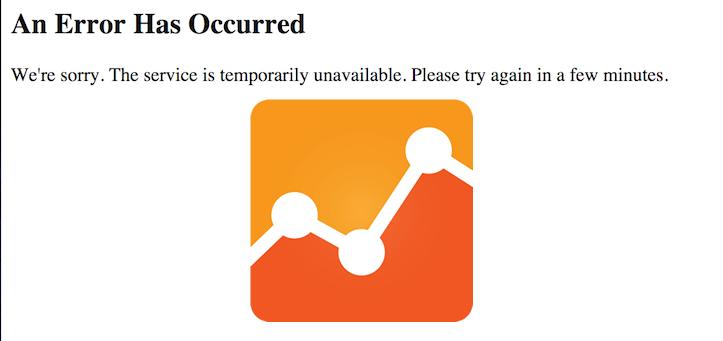 Google analytics is down