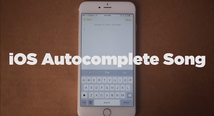 Ios autocomplete song