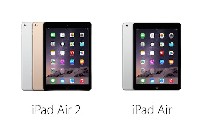 iPad Air 2 iPad Air comparison