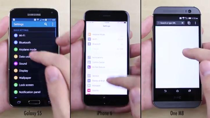 Iphone6 vs galaxys5 vs htcm8