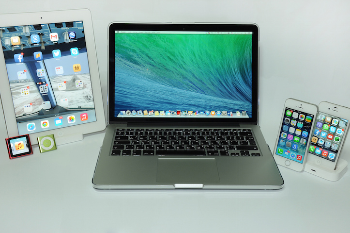 Macbook pro with lots of devices