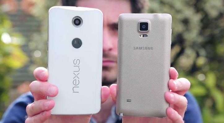 Nexus 6 vs galaxy note 4