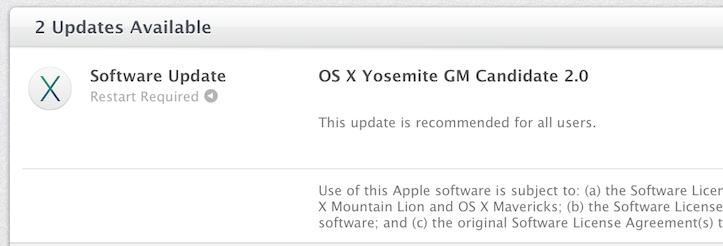 OS X Yosemite GM Candidate 2.0