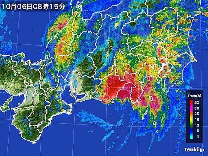 台風18号、静岡県上陸