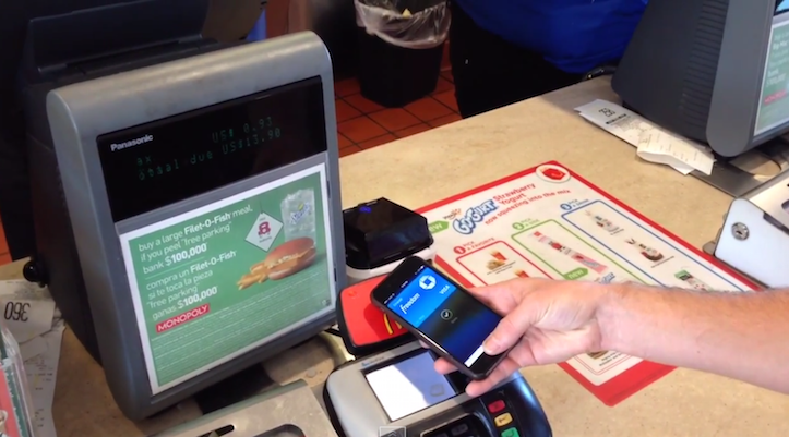 Using apple pay on macdonalds