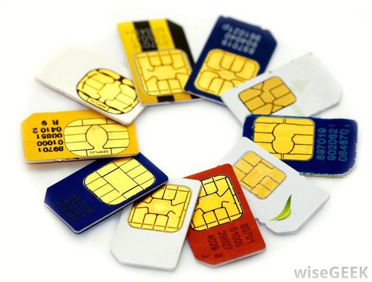Various sim cards