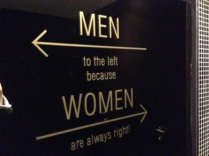 Why men are to the left