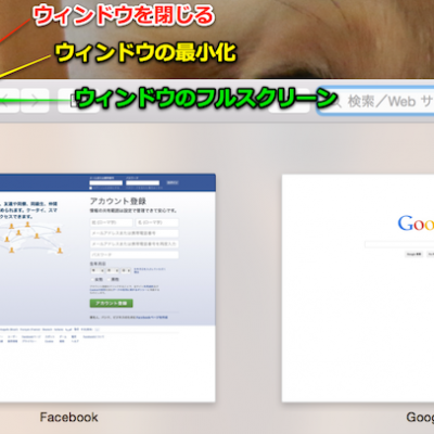 「OS X Yosemite」から緑色のボタンをクリックするとそのウィンドウをフルスクリーン表示するように変更されている。