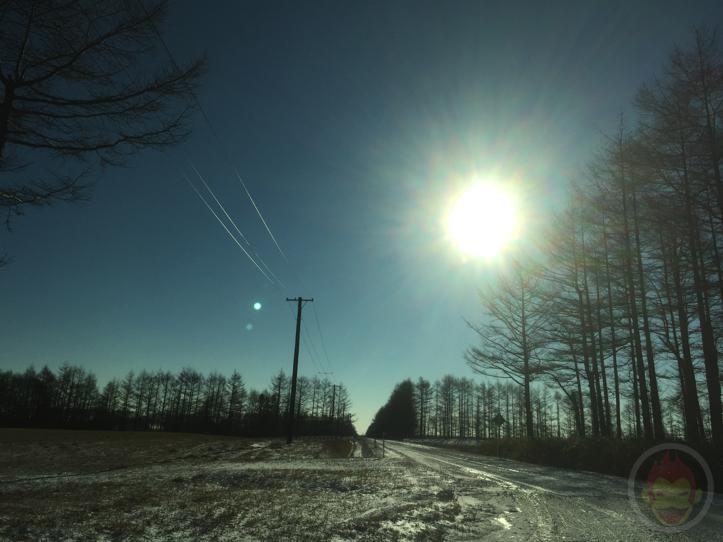 車の中から眺める、北海道の素敵な冬景色