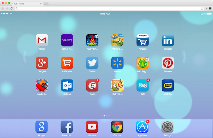 Chrome iOS 7 New Tab Page