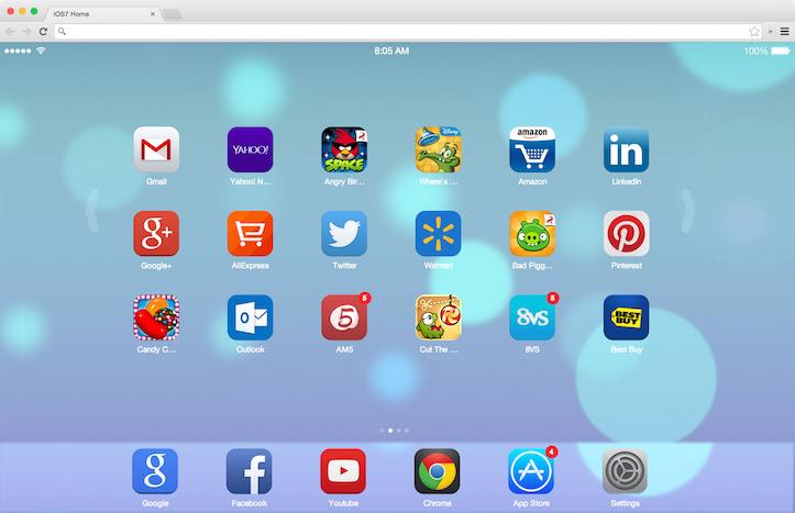 Chrome iOS 7 New Tab Page